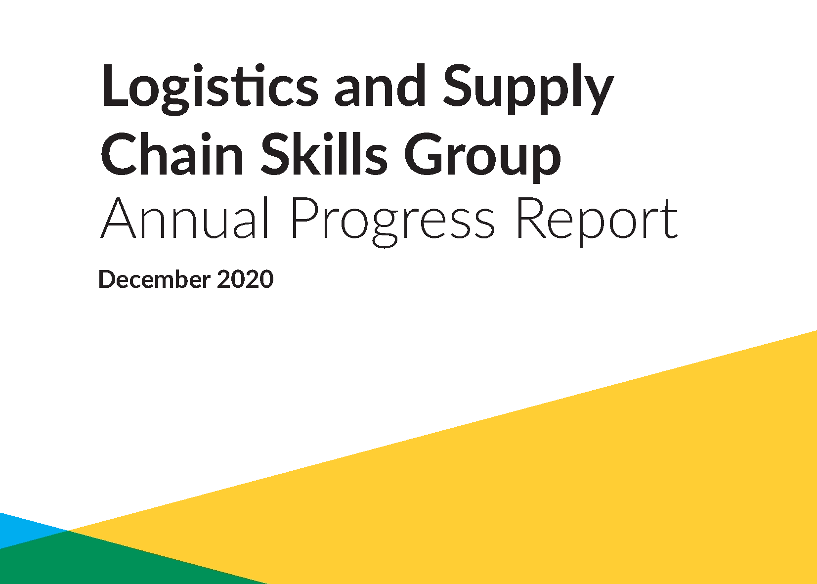Description for First Progress Report of the Logistics and Supply Chain Skills Group